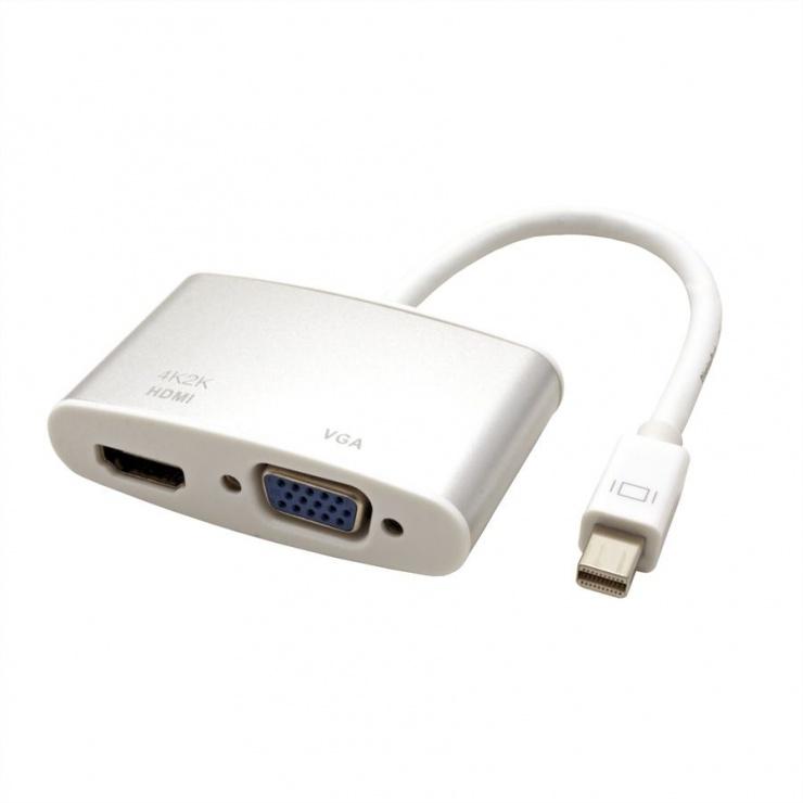 Imagine Adaptor Mini Displayport la HDMI/VGA T-M, Roline 12.03.3161-2