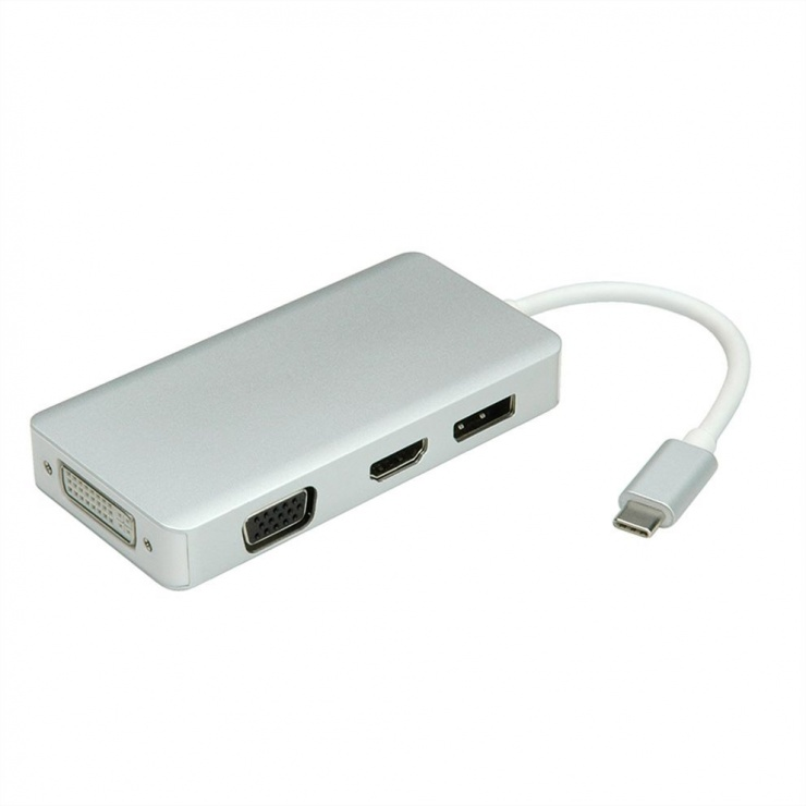 Imagine Adaptor USB tip C la VGA / HDMI / DVI / Displayport T-M, Value 12.99.3230