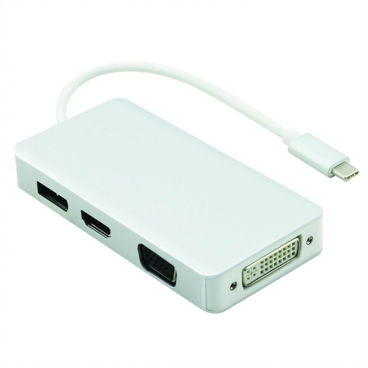 Imagine Adaptor USB tip C la VGA / HDMI / DVI / Displayport T-M, Value 12.99.3230-1