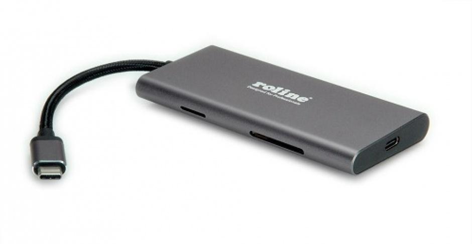 Imagine Docking Station USB-C la 4K HDMI, Roline 12.02.1115-1