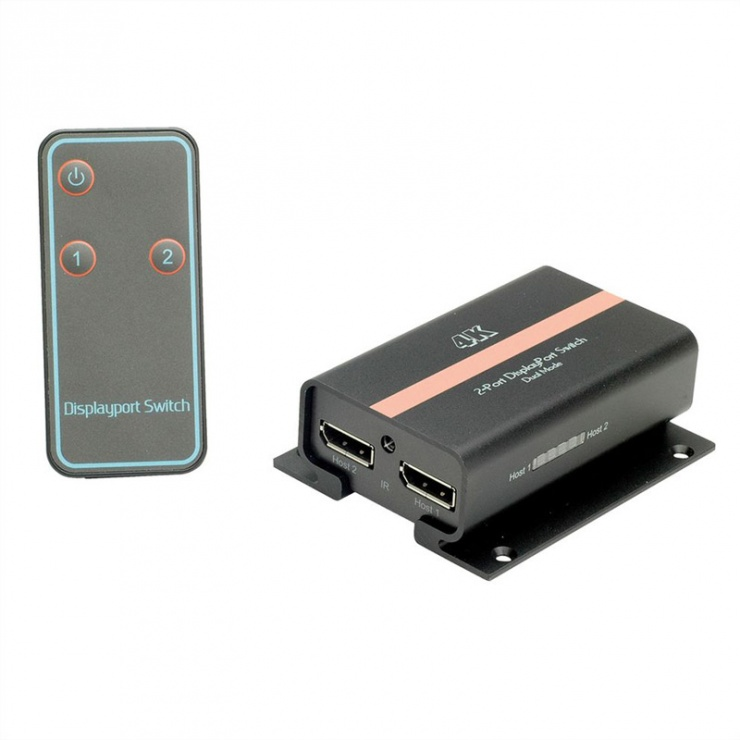 Imagine Switch Displayport 2 porturi 4K v1.2, Value 14.99.3542-2