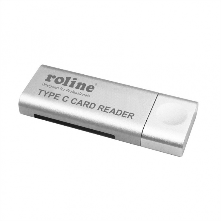 Imagine Cititor de carduri USB 3.0 tip C la SD/MicroSD, Roline 15.08.6259-4
