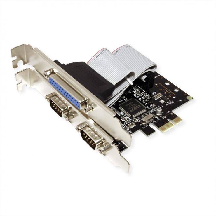 Imagine PCI Express la 2 x Serial RS232 + 1 x Paralel DB25, Value 15.99.2116-1