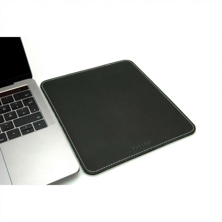 Imagine Mouse pad imitatie piele Negru, Roline 18.01.2046-3