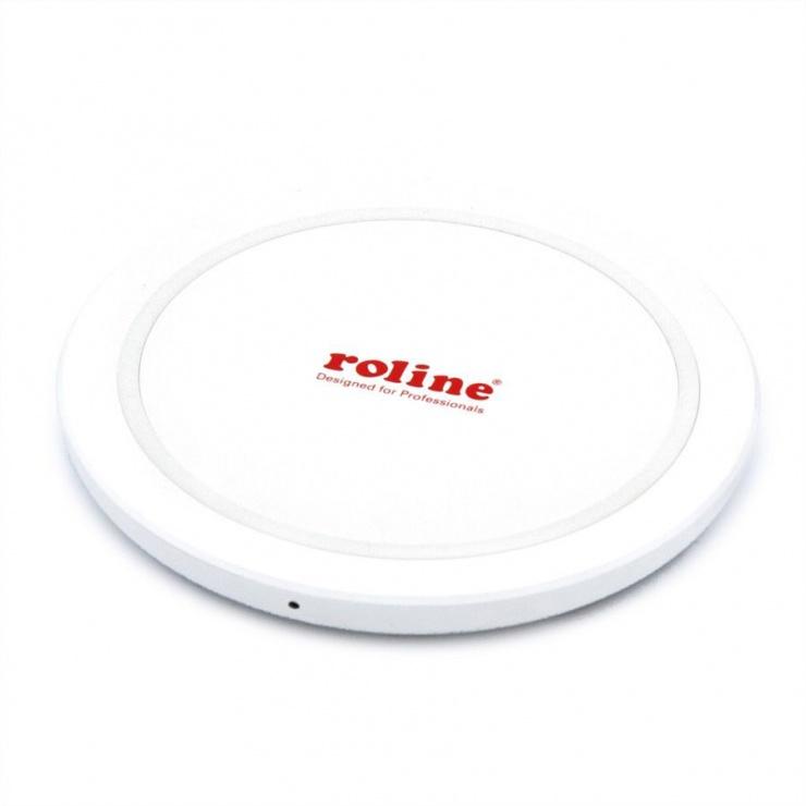 Imagine Incarcator Fast Charger Qi wireless (incarcare rapida) prin inductie 10W, Roline 19.11.1011