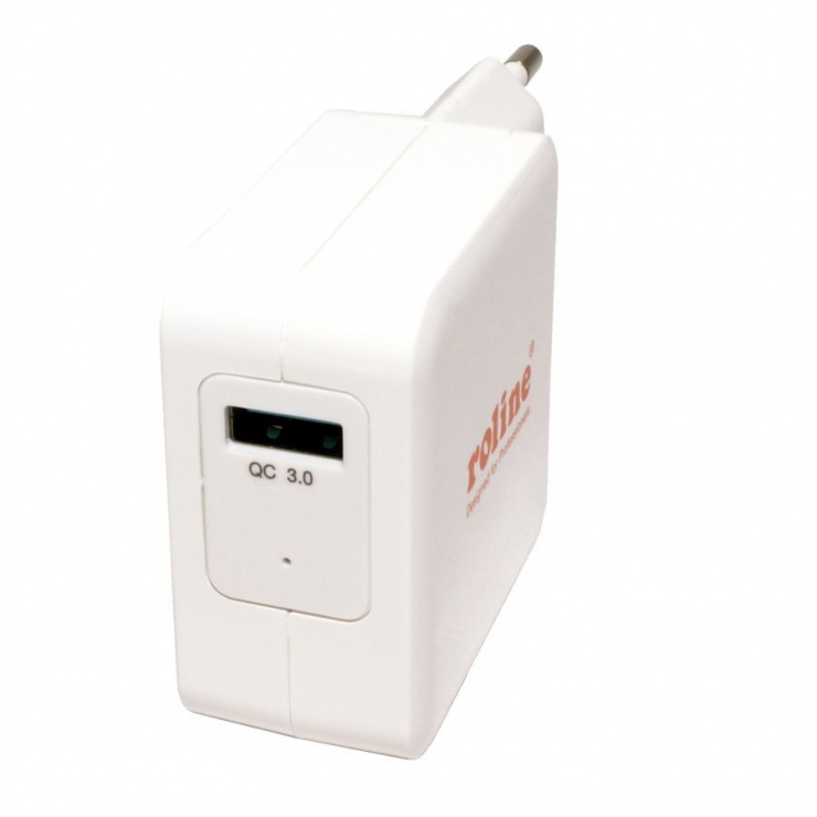 Imagine Incarcator priza 1 x USB Quick/Fast Charge 3.0 (incarcare rapida), Roline 19.11.1024