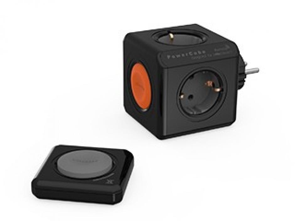 Imagine Fisa in forma de cub PowerCube 4 prize cu telecomanda Negru, Allocacoc