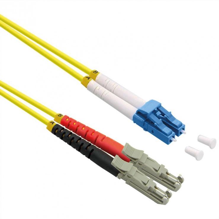 Imagine Cablu fibra optica duplex LSH APC - LC UPC, LSOH, Galben 0.5m, Roline 21.15.9510