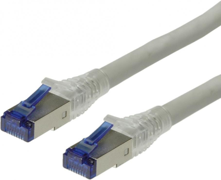 Imagine Cablu retea S-FTP cat 6A fir solid Gri 30m, Roline 21.15.0871