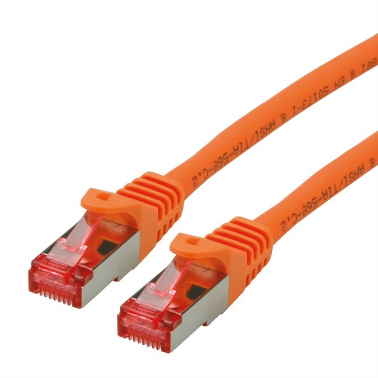 Imagine Cablu de retea SFTP cat 6 Component Level LSOH orange 10m, Roline 21.15.2677
