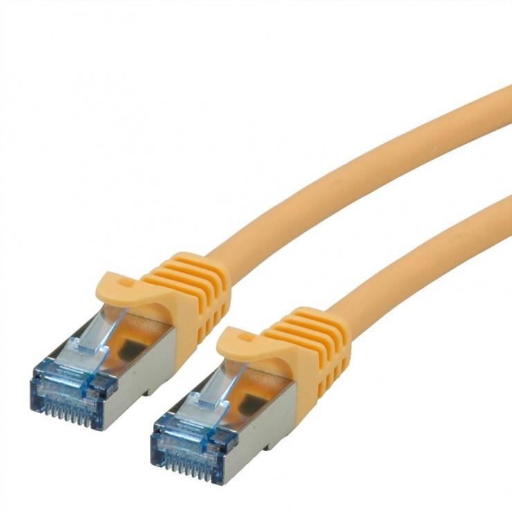 Imagine Cablu de retea S/FTP Cat.6A, Component Level, LSOH Galben 0.3m, Roline 21.15.2972