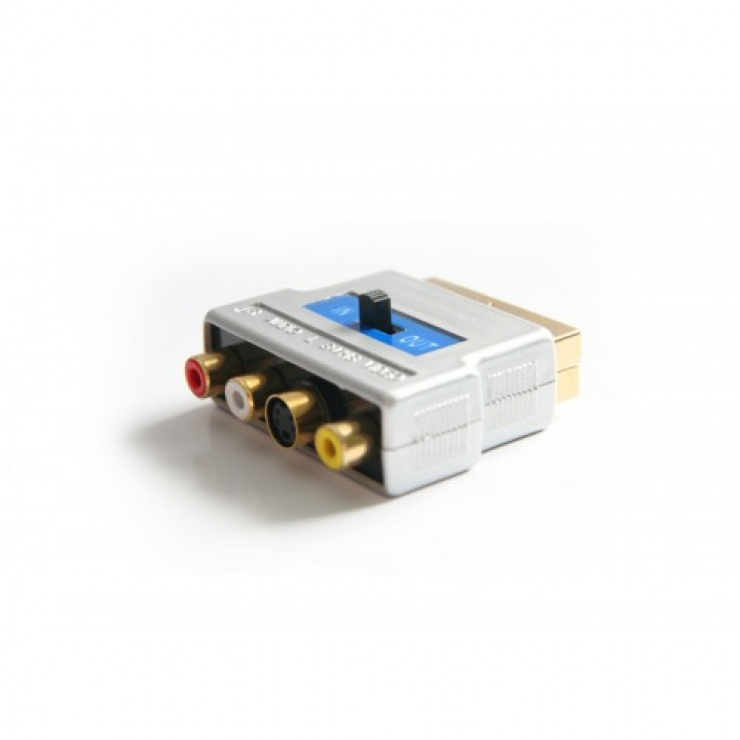 Imagine Adaptor GOLD Scart la 3 x RCA + S-video, KTCBLHE12029
