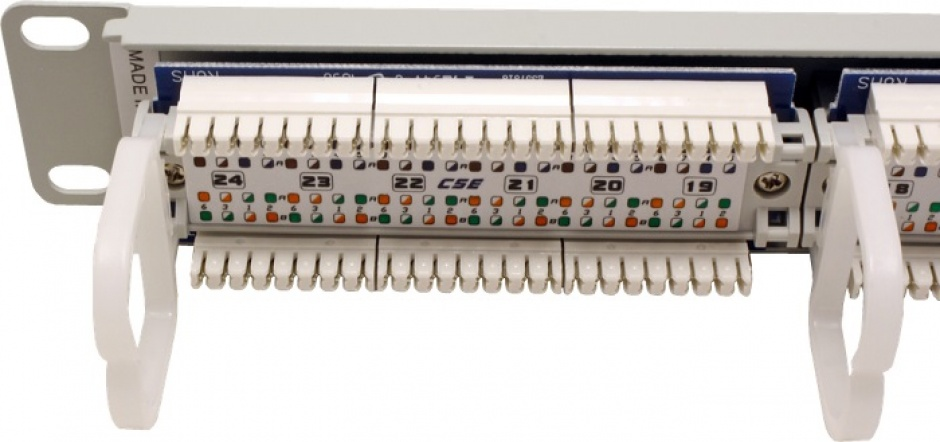 Imagine Patch Panel UTP Cat.5e, 24 porturi, gri, Roline 26.11.0347-1