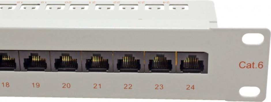 Imagine Patch Panel UTP Cat.6, 24 porturi, gri, Roline 26.11.0355