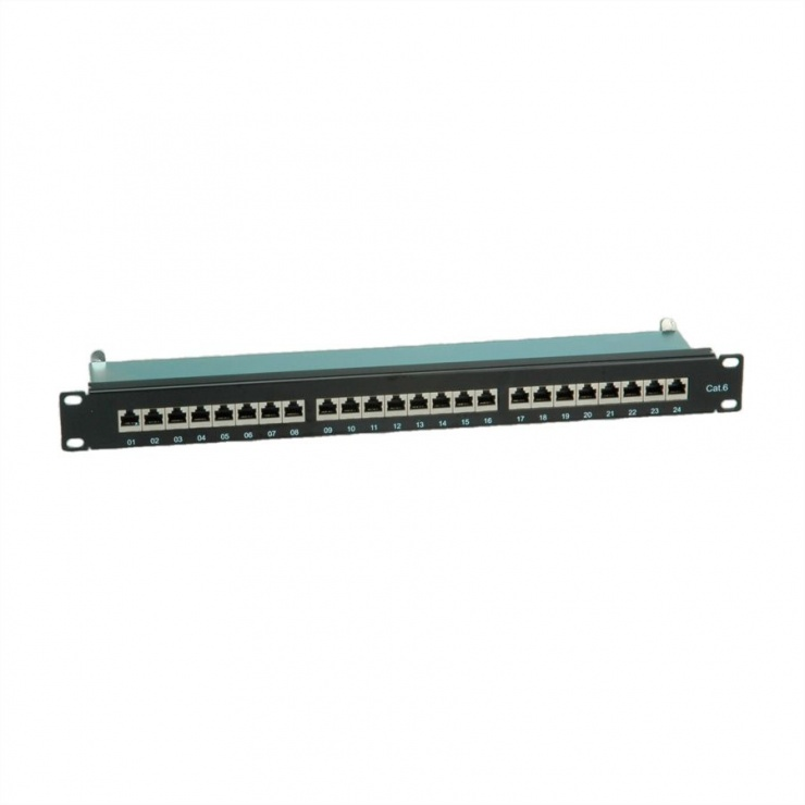 Imagine Patch Panel FTP Cat.6, 24 porturi, negru, Value 26.99.0353