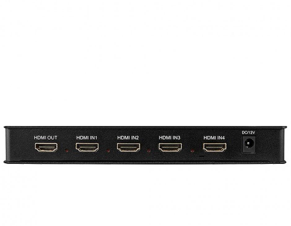 Imagine Switch HDMI 4 porturi Full HD Multi-View, Lindy L38150-2
