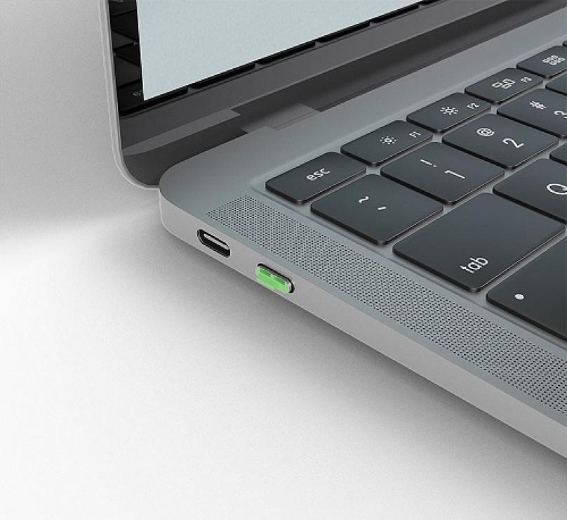 Imagine Set 4 bucati Port Blocker USB tip C/Thunderbolt 3 + cheie Verde, Lindy L40426-4