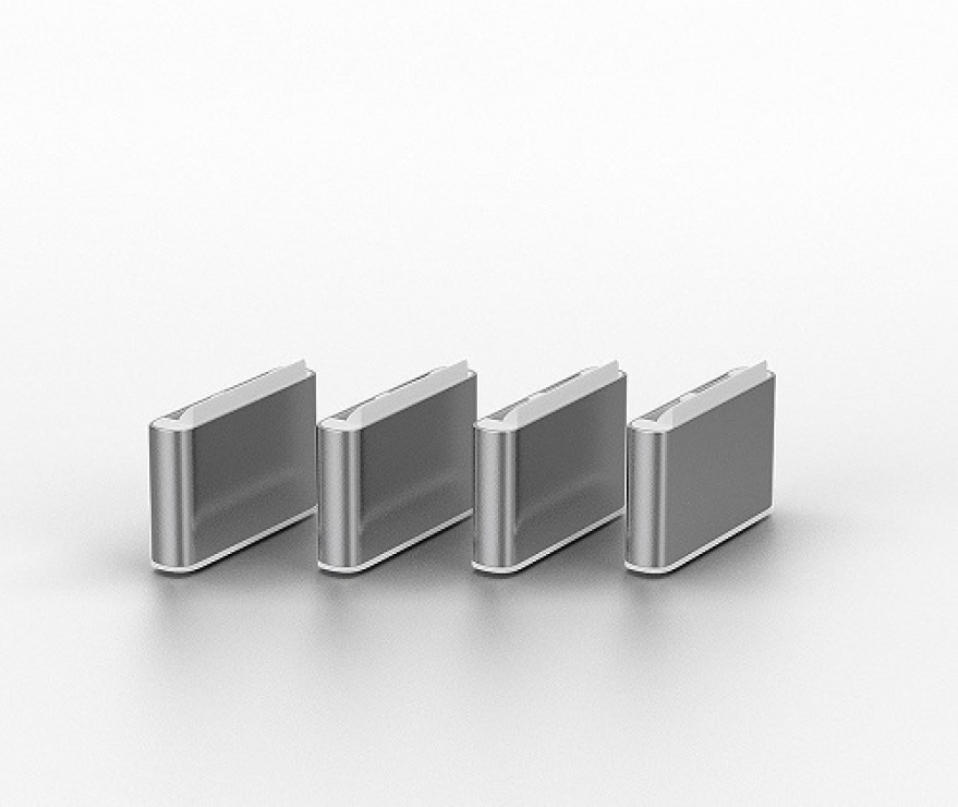 Imagine Set 4 bucati Port Blocker USB tip C/Thunderbolt 3 + cheie Alb, Lindy L40427-1