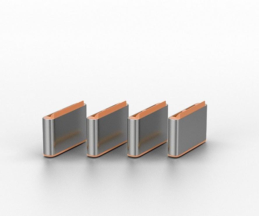 Imagine Set 4 bucati Port Blocker USB tip C/Thunderbolt 3 + cheie Orange, Lindy L40428-1