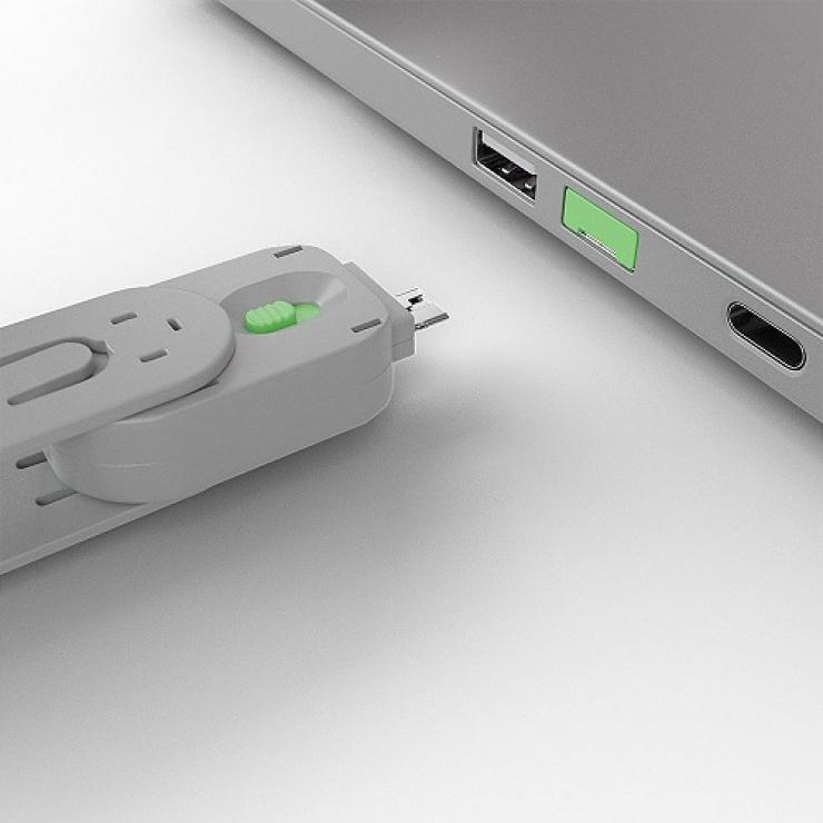 Imagine Cheie pentru blocarea portului USB-A (L40461 & L40451) Verde, Lindy L40621-3
