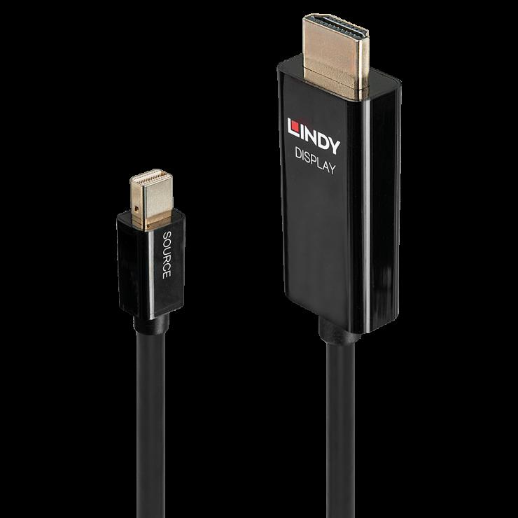 Imagine Cablu Mini DisplayPort la HDMI activ T-T 0.5m, Lindy L40910
