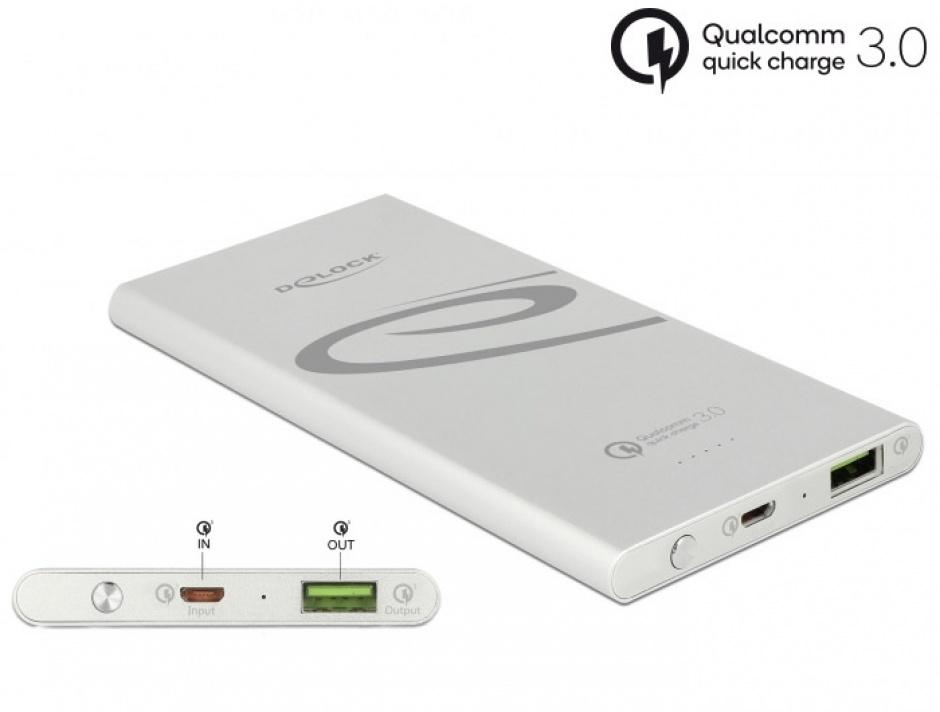 Imagine Baterie externa 5000 mAh 1 x USB-A Qualcomm Quick Charge 3.0, Delock 41503