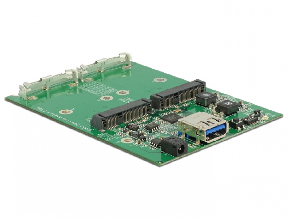 Imagine Rack extern USB 3.1 Gen 2 la 2 x mSATA cu Raid, Delock 42571