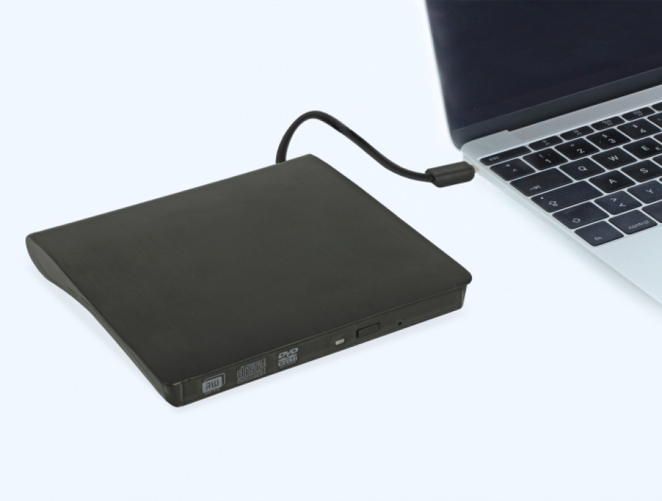 "Imagine Rack extern USB-C pentru dispozitive 5.25"" Slim SATA 12.7mm Negru, Delock 42601-3"
