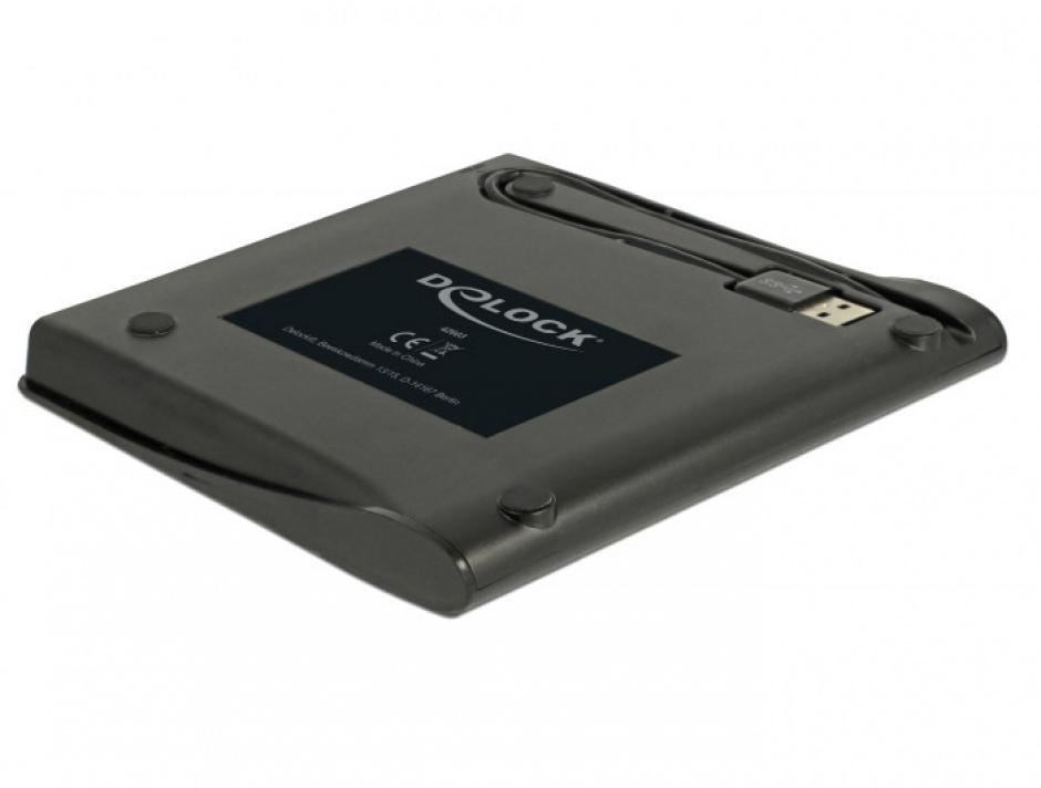"""Imagine Enclosure extern pentru dispozitive 5.25"""" Ultra Slim SATA 9.5 mm la USB-A Negru, Delock 42603-1"""