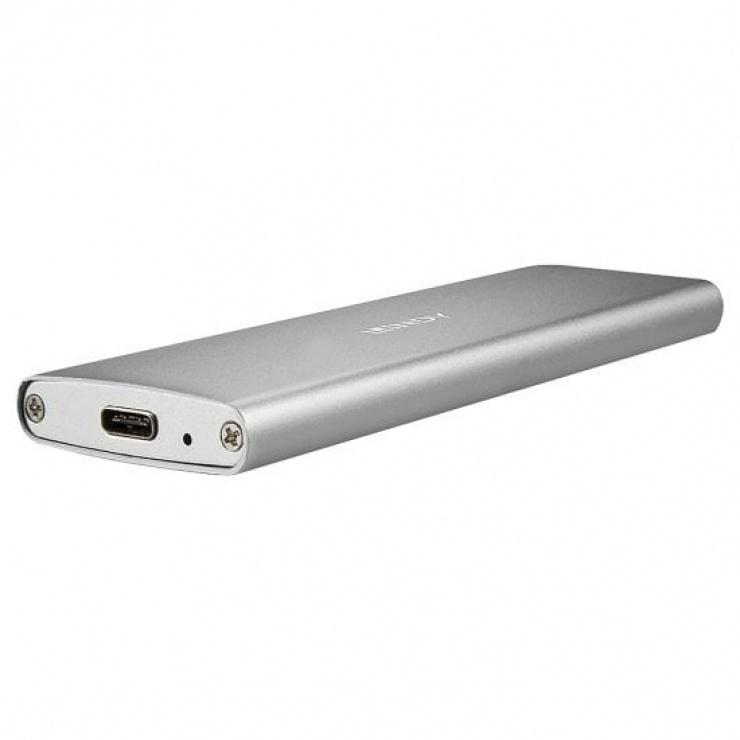 Imagine Rack extern pentru SSD M.2 la USB-C 3.1 Aluminiu, Lindy L43097