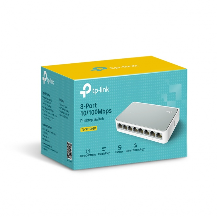 Imagine Switch 8 porturi 10/100 Mbps, TP-LINK TL-SF1008D-2