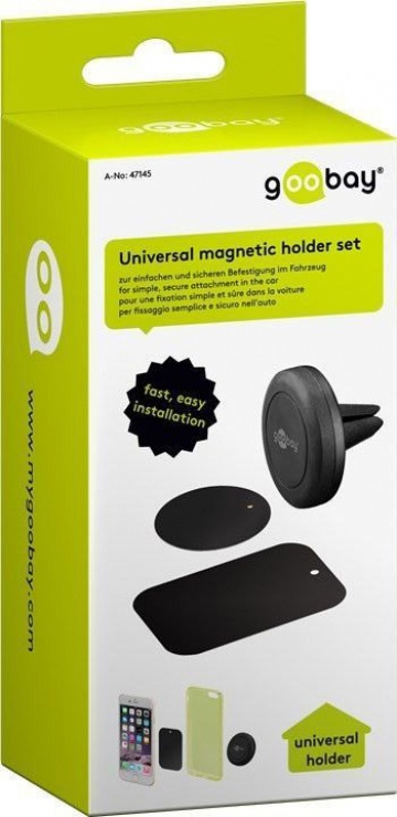 Imagine Suport magnetic auto pentru smartphone (45mm), Goobay 47145-10