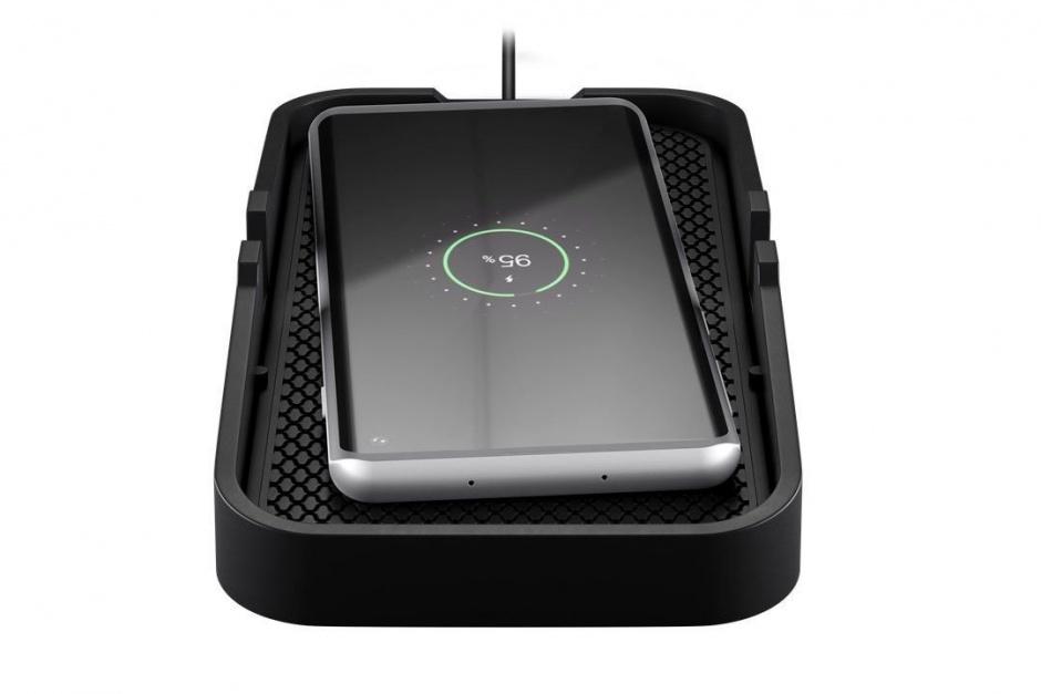 Imagine Incarcator wireless Fast Charging 10W pentru auto/birou, Goobay 55479