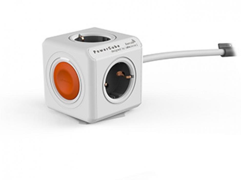 Imagine Prelungitor in forma de cub PowerCube Remote 4 prize 1.5m cu Switch, Allocacoc