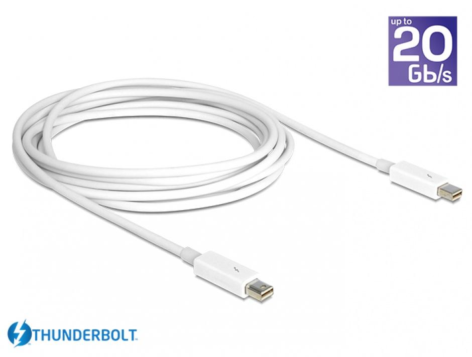 Imagine Cablu Thunderbolt 2 T-T 2m alb, Delock 83167-1