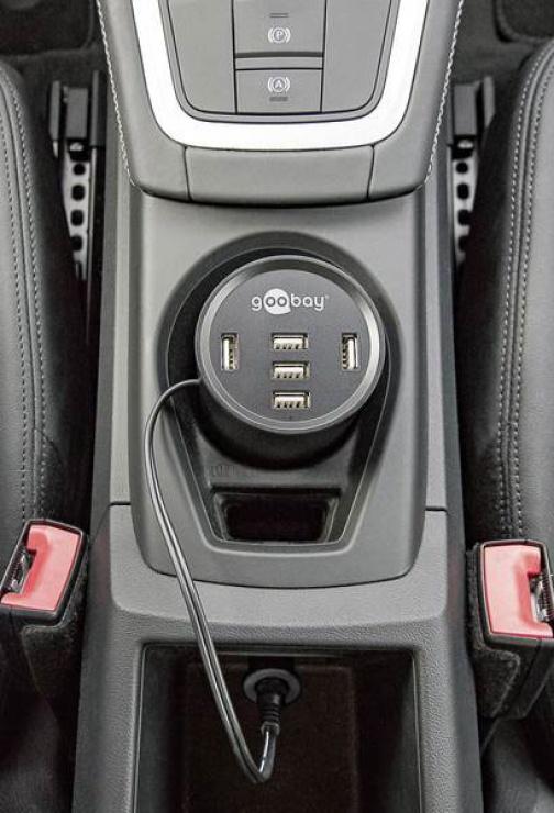 Imagine Incarcator auto cu 5 x USB 10A, Goobay 58846-4