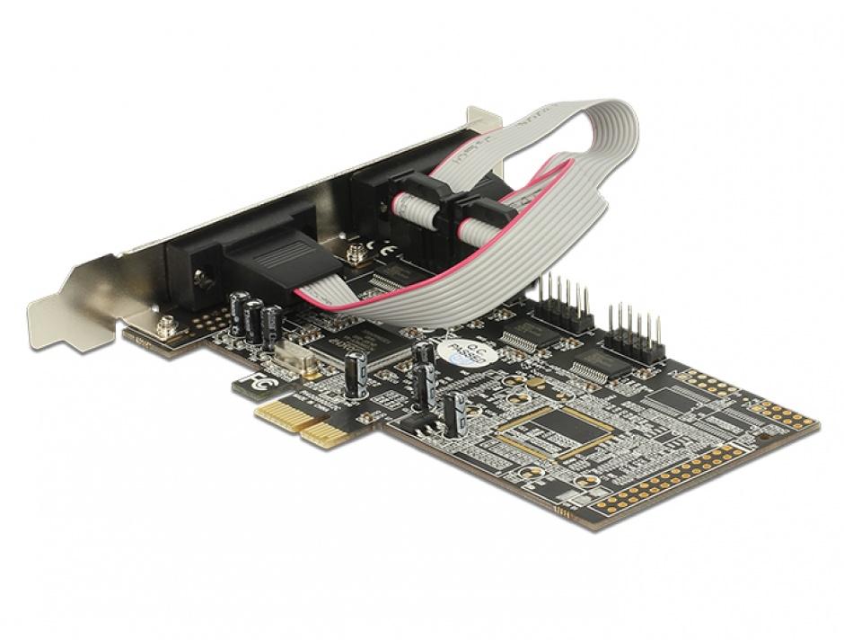 Imagine PCI Express cu 4 x Serial RS232, Delock 89178-1
