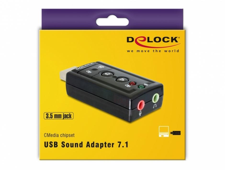 Imagine Placa de sunet USB, 7.1, Delock 61645-4