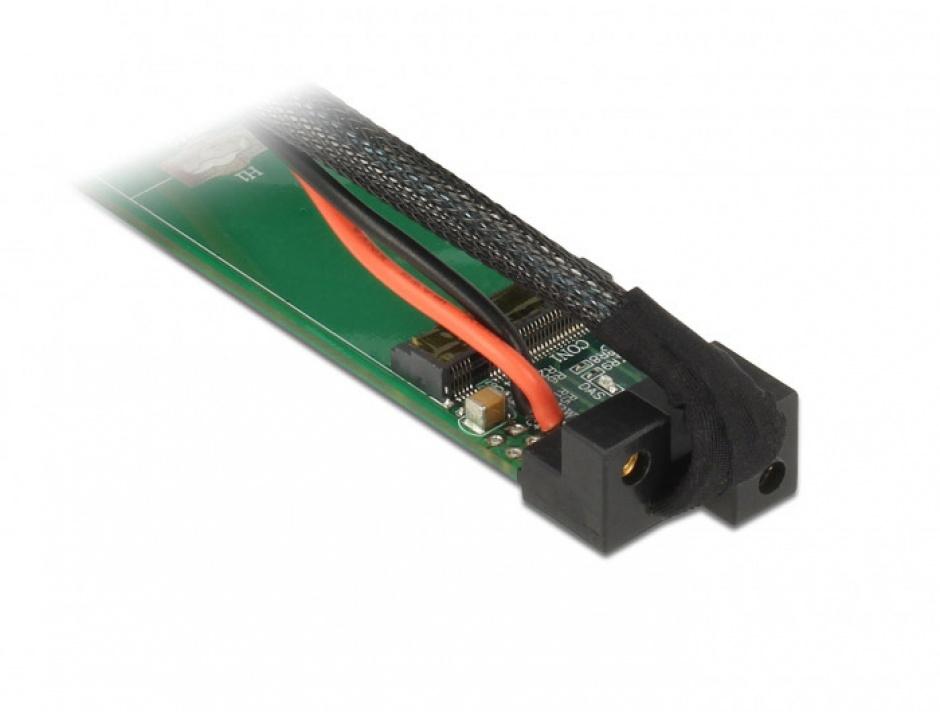 Imagine Convertor SFF-8643 la 1 x M.2 NVMe Key M + cablu 1m, Delock 63342-1
