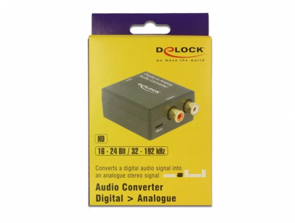 Imagine Convertor audio digital S/PDIF la analog RCA HD, Delock 63477-2