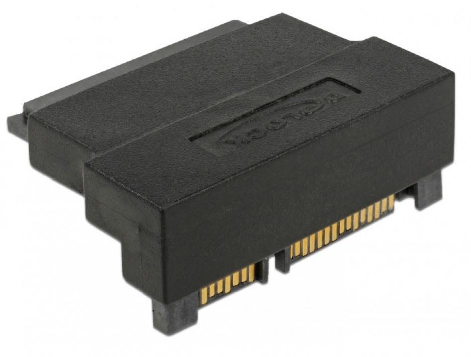 Imagine Adaptor SATA 22 pini T-M unghi 90 grade sus, Delock 63944-2