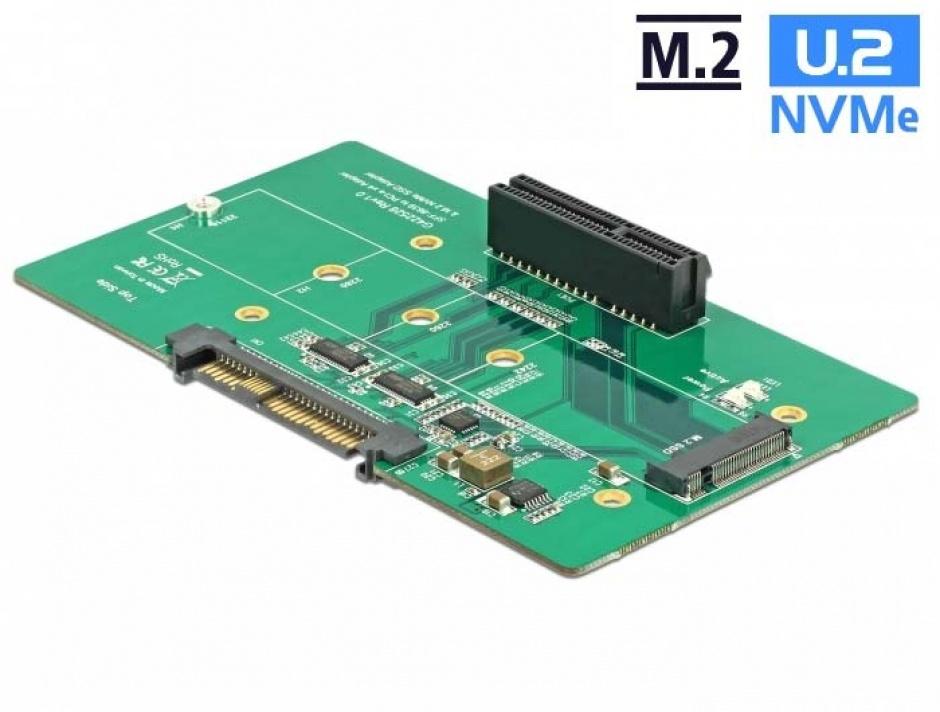 Imagine Adaptor U.2 SFF-8639 la PCIe/M.2 Key M slot, Delock 63951