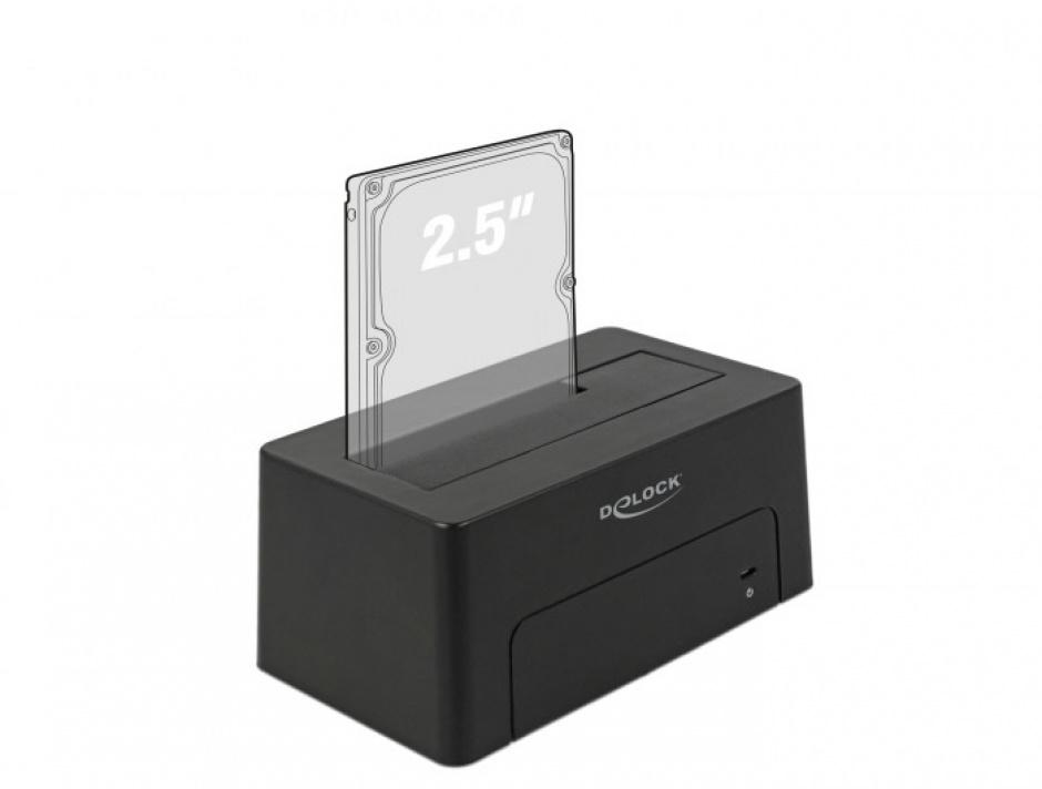 Imagine Docking Station USB 3.1-C pentru HDD/SSD SATA, Delock 63958-4