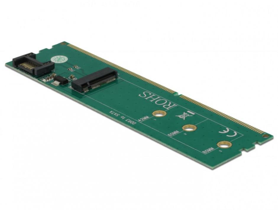 Imagine Adaptor SATA + DDR3 la M.2 key B, Delock 63960-1