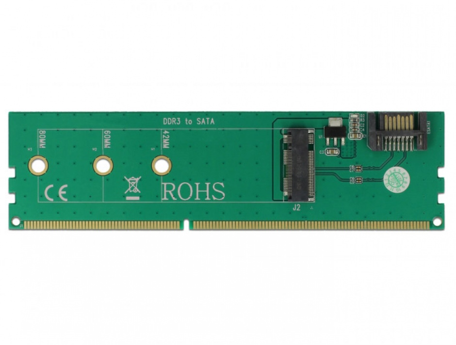 Imagine Adaptor SATA + DDR3 la M.2 key B, Delock 63960-2