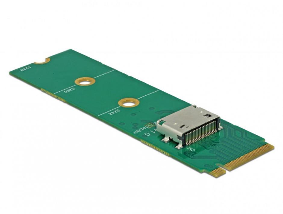 Imagine Convertor M.2 Key M la OCuLink SFF-8612, Delock 64040-1