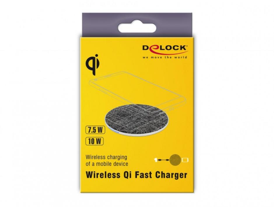Imagine Incarcator Wireless Qi Fast charger 7.5 / 10W, Delock 65919-3