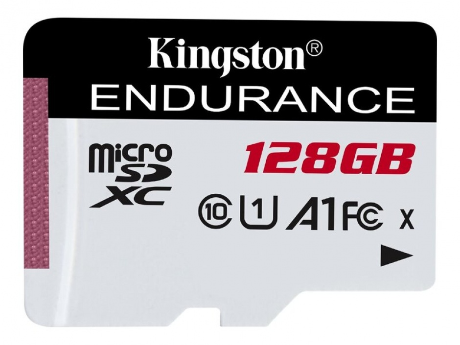 Imagine Card de memorie micro SDXC 128GB clasa 10 UHS-I High Endurance, Kingston SDCE/128GB