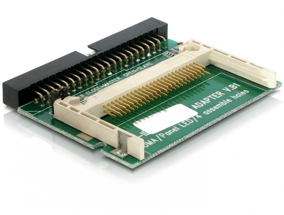 Imagine Cititor de carduri IDE 44 pini la Compact Flash, Delock 91653