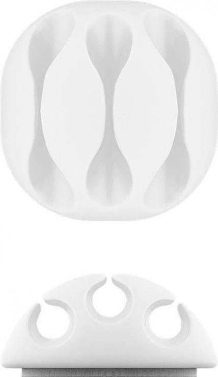 Imagine Set 5 bucati organizatoare cabluri albe, Goobay 70681-9